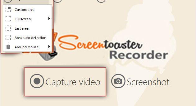คุณสมบัติของ ScreenToaster Recorder