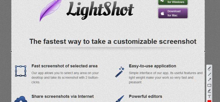 แนะนำโปรแกรมจับภาพหน้าจอ lightshot